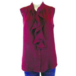 Jones New York Ruffled Front Blouse - Size 4 (NEW)